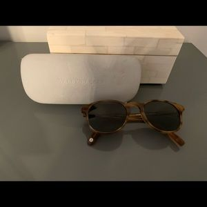 Warby Parker Downing sunglasses with case